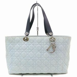 Dior Quilted Cannage Denim Shopper Tote 870873
